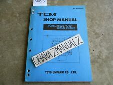 Isuzu TCM Forklift 4JG2 Diesel Engine Shop Service Manual