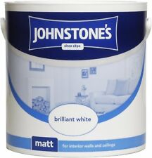 Johnstone's 303967 2.5 Litre Matt Emulsion Paint Brilliant White