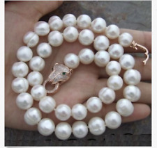 elegant 12-13mm south sea baroque white pearl necklace 18inch