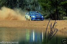 "Petter Solberg World Rally Champion 03 SUBARU IMPREZA HAND SIGNED PHOTO 12x8"" BG"