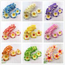 50/100pcs 5cm Foam Floating Frangipani/Plumeria/Hawaiian Flower Head 10color