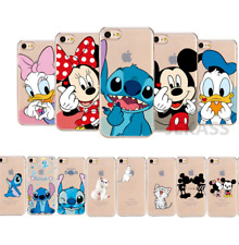 COVER SILICONE IPHONE 6s 7 8  X XR 11 pro Disney Stitch topolino minnie paperina
