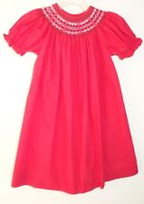 Silly Goose Holiday Smocked Bishop Dress Girl's Size 3