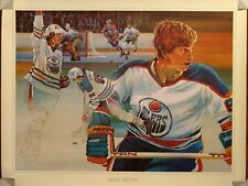 Wayne Gretzky 1980 Very Rare Brent Lynch Limited Print only 3000 Produced