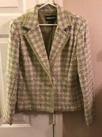 Requirements Nwt 2 Button Blazer Women's Size 14 Green Acrylic Blend