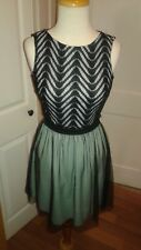 Speechless Modcloth Party Dress Black Lace Mint Green w/ Tulle Size 5