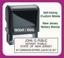 New Jersey Notary Public Trodat Ideal Custom Self Inking Rubber Stamp