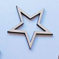Holz Fünf Punkt Star Formen Laserschnitt MDF, Größe Optionen Basteln Heim Dekor