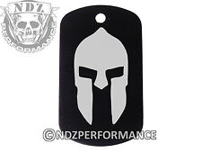 Dog Tag Military ID K9 Chain Silencer Laser Engraved BLK Spartan Helmet 1
