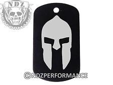 Dog Tag Military ID K9 Chain Silencer Laser Engraved BLK Spartan Helmet 1