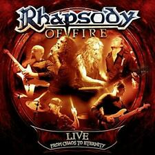 RHAPSODY OF FIRE - LIVE FROM CHAOS TO ETERNITY - 3LP VINYL NEW SEALED 2013