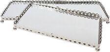 NEU Spiegel Tablett Metall Rahmen Tablett Untersetzer Spiegel Glas