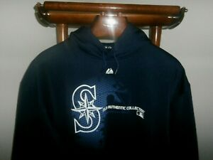 SEATTLE MARINERS  XL Majestic Therma Base MLB Authentic Collection Hoodie