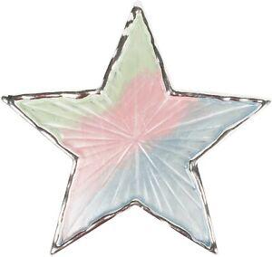 Magnet Schmuck Brosche Stern mehrfarbig matt schimmernd lackiert für Schals