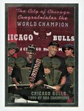 Michael Jordan Scottie Pippen 1997-98 Topps Chrome #51 Bulls Champions KCC