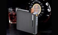20 cigarette Thin Aluminum Metal Automatic Cigarette Case With USB Recharge