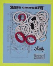 1996 Bally / Midway Safe Cracker Safecracker pinball rubber ring kit