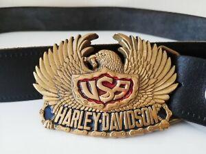 Genuine HARLEY DAVIDSON BELT AND BUCKLE 1983 YEAR VINTAGE
