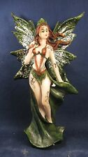 Fairy with Tattoos and long skirt dark green fantasy figurine (A)