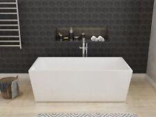 Bathroom Square Freestanding Bath Tub Acrylic-1500x800x600mm With Overflow Thin