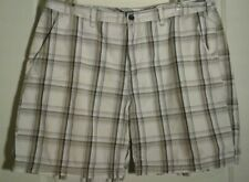 Mens Shorts Size 42 Croft and Barrow Flat Front Plaid Cotton Golf