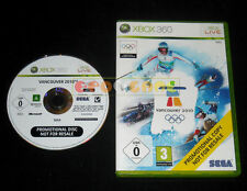 VANCOUVER 2010 XBOX 360 Versione Promo Europea »»»»» DVD GOOD