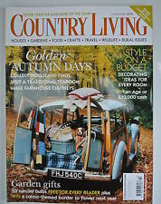 Country Living Magazine. October, 2004. Issue No. 226. Golden Autumn days.