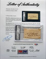 MAJOR General NATHANIAL P BANKS Civil War SIGNED Autograph PSA/DNA COA RARE!!!!