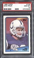 Mike Prior 1988 Topps Football # 129 PSA 10