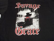 "Vtg NEW Deadstock SAVAGE GRACE ""After The Fall From Grace"" XL Metal ROCK T-SHIRT"