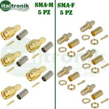 CONNETTORI  SMA-F  SMA-M  RG58 KIT 10Pz A CRIMPARE RG58
