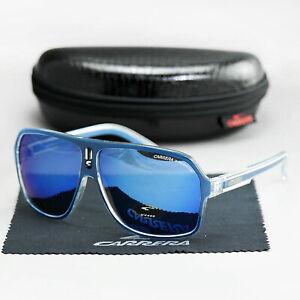 CARRERA Oversized Aviator Sunglasses Men's Women Square Sports Glasses with Case