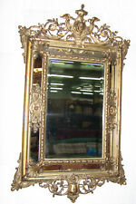 Original alter prunkvoller Antik Barock Spiegel um 1850