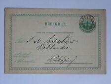 Entier Postal SUEDE 1881