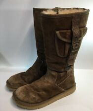 Ugg Boots #5195 Women's Cargo, Buckled Strap & Pocket, Brown-Size 8