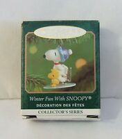 Hallmark Keepsake Miniature Ornament Winter Fun with Snoopy 2001 Peanuts (M3)