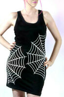 Spiderweb Tank Dress Size XL Graphic Tee Long Top Goth Horror Gothic Spider