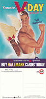 HALLMARK GREETINGS CARDS VALENTINES DAY UNUSED COLOUR ADVERTISING POSTCARD (a)