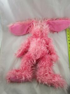 """Russ Fuzzy Wuzzy Rabbit Plush Pink Bunny 16"""" Stuffed Animal Toy"""