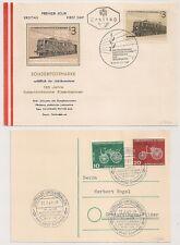 2 COVERS AUSTRIA DEUTSCHLAND  WIEN STUTTGARD3 1961. 1962. L1006