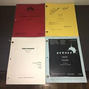 (4) Orig Sci-Fi TV Scripts ~ HEROES+ALIEN NATION signed+MATTHEW STAR+ROSWELL CON