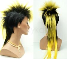 Mohawk Punk Rock Spiky Wig Long Straight Tail Spiked Colors Costume