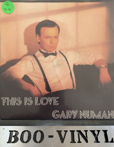 """GARY NUMAN 7"""" THIS IS LOVE VINYL RECORD IN EX CON"""