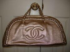 Chanel Handbag Light Gold Leather