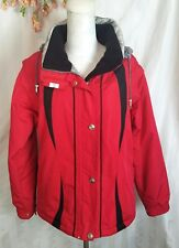 $300 Womens Ski Coat Size 12 Large Marker High Quality Sleeves Zip Off vest red