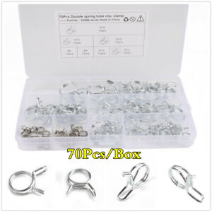 Boxed Double Wire Spring Clips / Fuel Line Hose Pipe Tube Clamps For Motorcycle