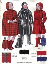 Vintage Ward Stilson Rain-Wear Ad 1940S W Fabric Swatches 7PG