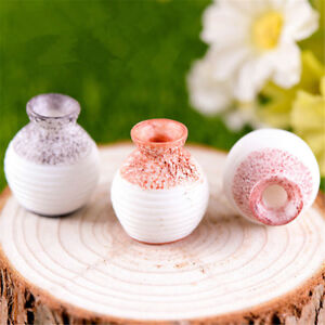 Home Ceramic Pottery Flower Pot Plant Office Mini Vase Ornaments Dollhouse Decor