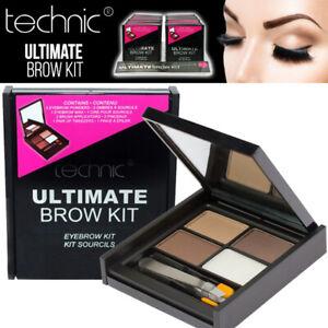 Technic Ultimate Brow Kit Set Eyebrow Makeup - Powder - Wax - Brush - Tweezers
