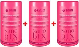 3x Richee Professional Nanobotox Repair Reconstruction Volume Reducer 1Kg